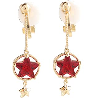 Double Tassel Simulated Pearl Clip on Earring Dangle Clips for non Pierced Rhinestone Crystal Gold-tone N4rr3