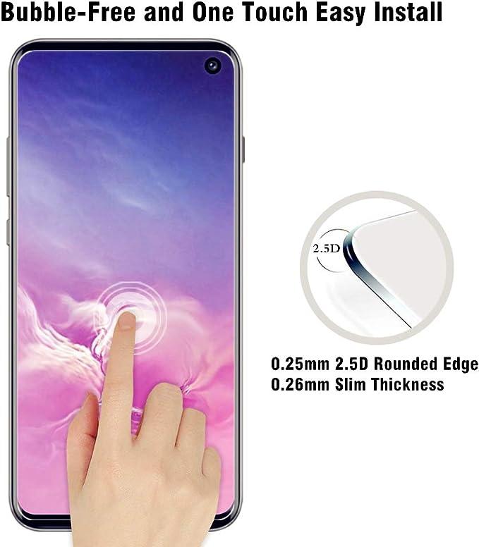 AHABIPERS 2X Vetro Temperato per Samsung Galaxy S10E Pellicola Protettiva, Pellicola Vetro Temperato Screen Protector, 9H Durezza Ultra Resistente