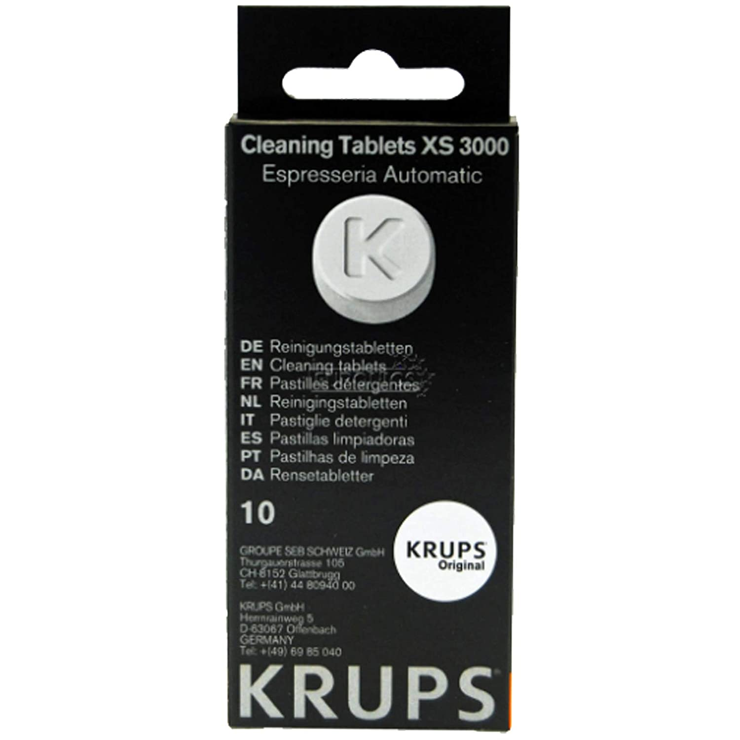 1.5g x 10 Krups XS300010 Cleaning Tablets for Espresseria Automatique Espresso Coffee Machine