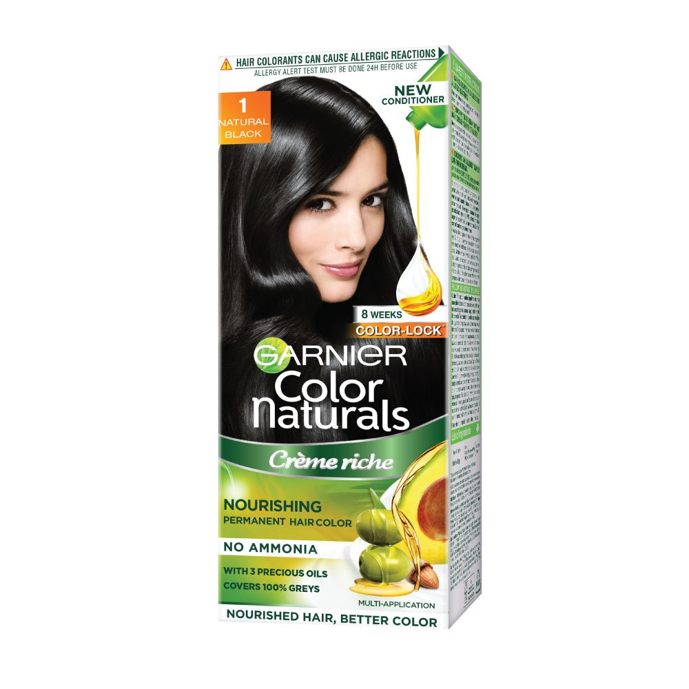 Buy Garnier Color Naturals Shade 1 Natural Black, 60ml + 50g ...