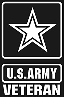 us army veteran star logo white window or bumper sticker