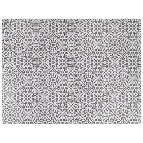 Dining Table Deco (Vinyl Floor Mat, Durable, Soft and Easy to Clean, Ideal for Kitchen Floor, Dining Room or Play Mat. Freestyle, Wrought Iron Pattern (6 ft x 8 ft))