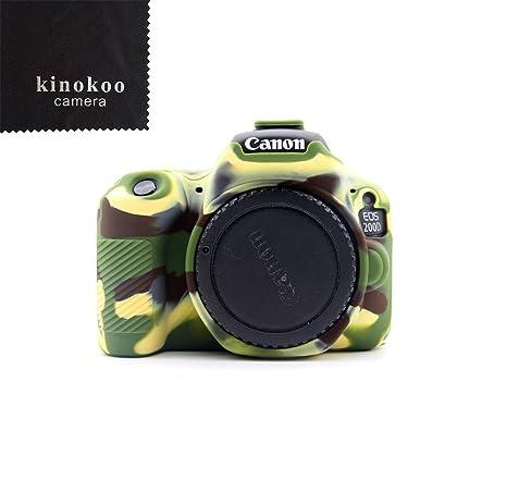 kinokoo Funda de Silicona para Funda Protectora Canon EOS 200D / Rebel SL2 (Camuflaje)