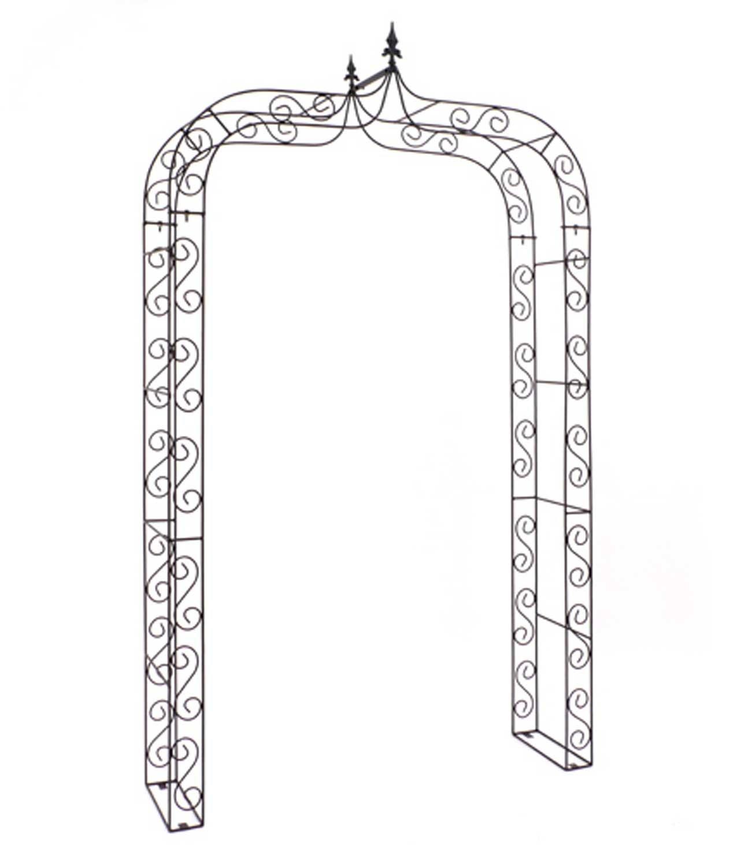 Rosenbogen Merlano Breite 140 cm Metall schwarz Spalier Rankhilfe Torbogen Spitzbogen