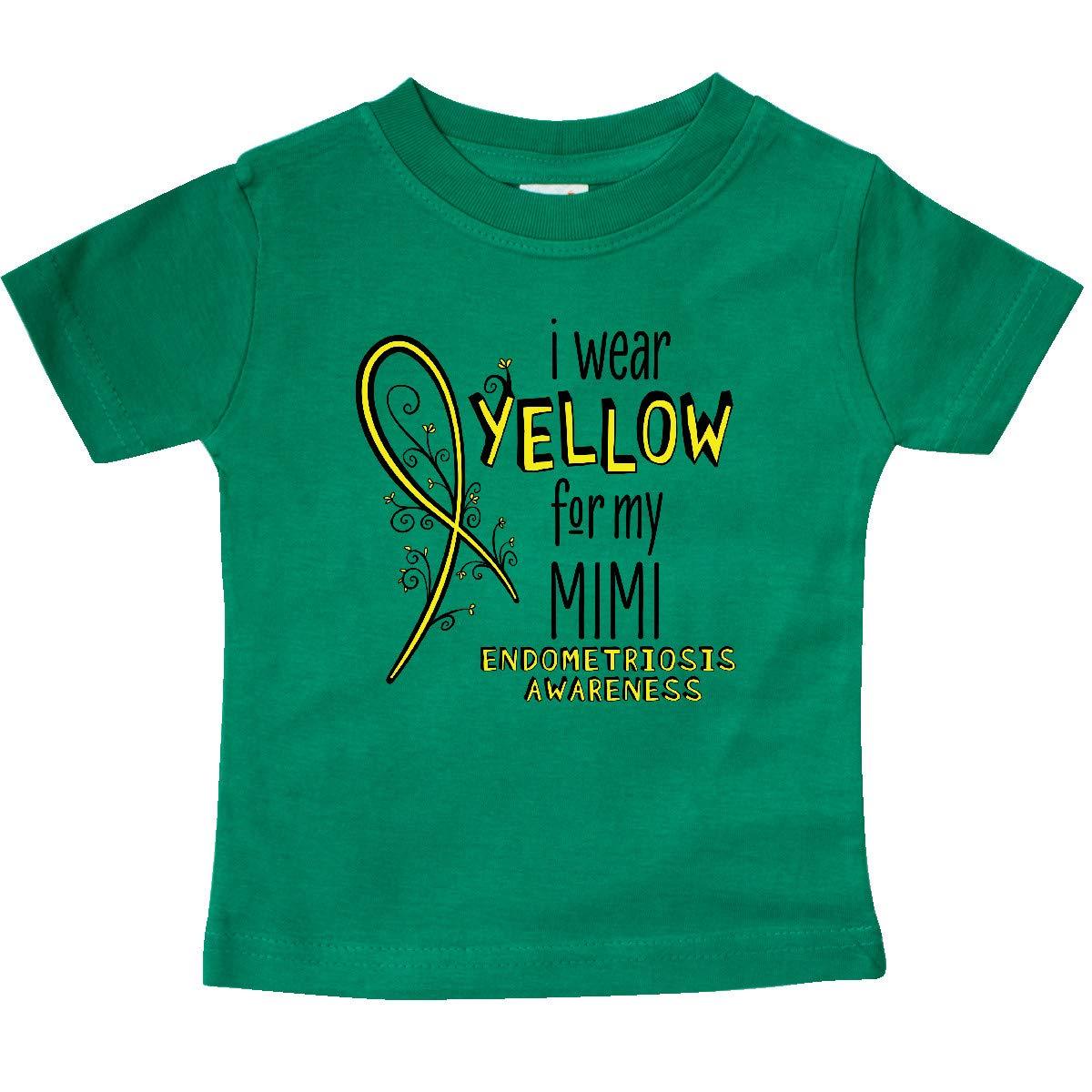 inktastic I Wear Yellow for My Mimi Endometriosis Awareness Baby T-Shirt