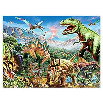 Ceaco Dino Glow in The Dark Dino Party Puzzle (100 Piece): Toys & Games [5Bkhe0414217]