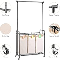 XCSOURCE Laundry Sorter with Hanging Bar