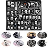 pfaff pressure feet - Professional Domestic Sewing Foot Presser foot Presser Feet Set for Singer, Brother, Janome,Kenmore, Babylock,Elna,Toyota,New Home,Simplicity And Low Shank Sewing Machines (48 PCS)