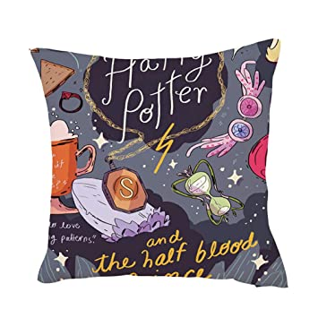 Mallalah Harry Potter Funda de cojín con estampado de Harry Potter 45,7 x 45,7 cm