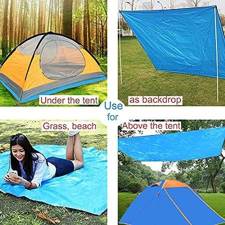 MYYIDO Outdoor Waterproof Picnic Blanket Mat Mutifunctional Sunshade Camping Shelter Tent Tarp Footprint for Picnic with Drawstring Carrying Bag Hiking Beach Beach with Drawstring Carrying Bag
