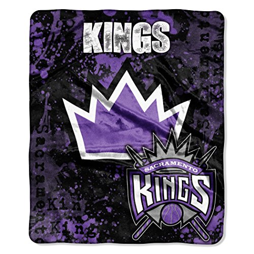fan products of Officially Licensed NBA Sacramento Kings Dropdown Plush Raschel Throw Blanket, 50
