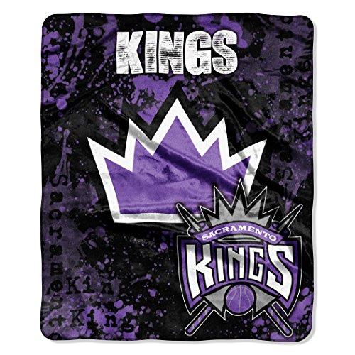 The Northwest Company Officially Licensed NBA Sacramento Kings Plush Raschel Throw Blanket, Purple, 50