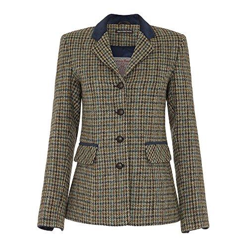 Ladies Harris Tweed Country Jacket, Navy, 16