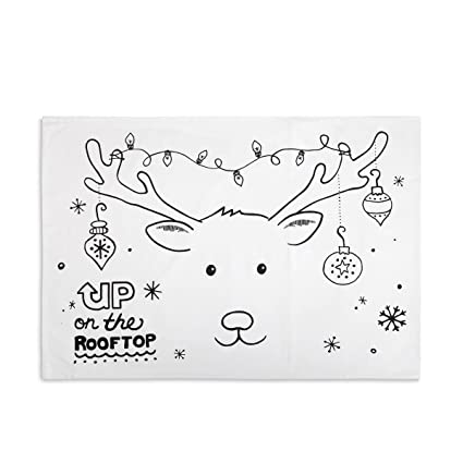 christmas doodle coloring pillowcase with permanent fabric markers christmas reindeer up on the