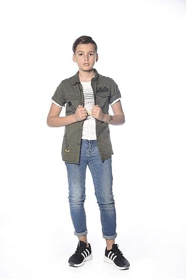Deeluxe - Camisa - para niño Caqui 12 años: Amazon.es: Ropa y accesorios