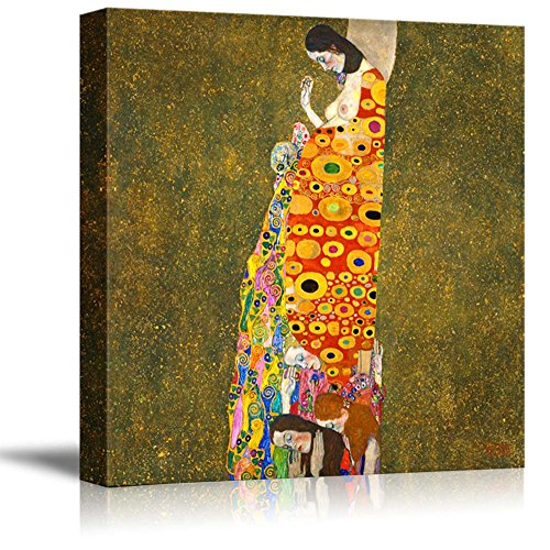 Hope,II by Gustav_Klimt - Canvas Print Wall Art Famous Painting Reproduction - 24
