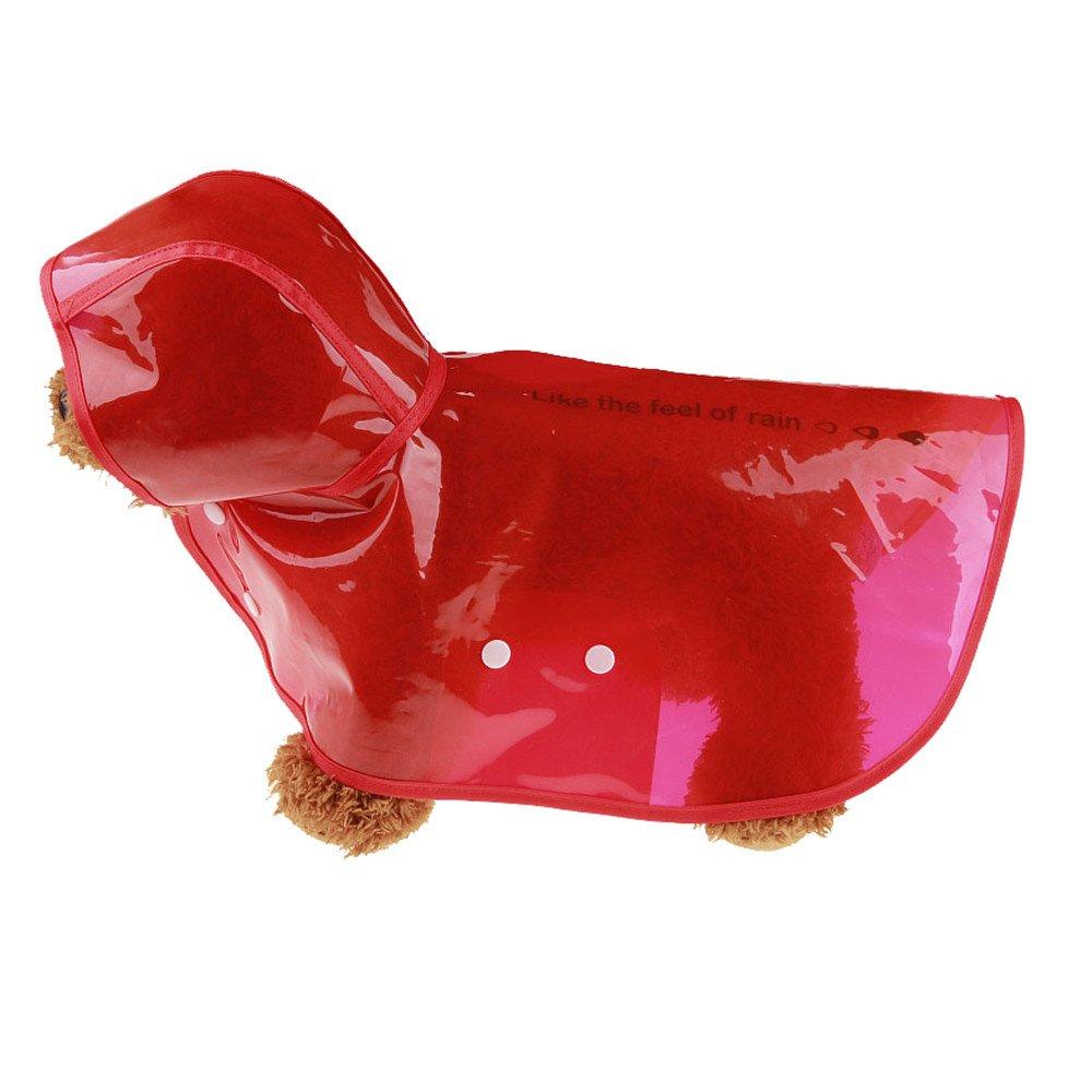 Alalaso Dog Raincoat, Rainwear Hooded Waterproof Jacket Pet Dog Puppy Clothes (XL, Red)