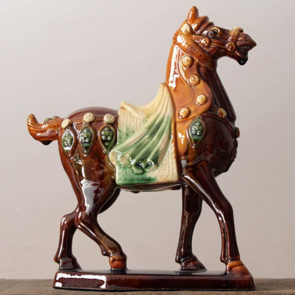 RSRZRCJ Figuritas Decorativas Escultura Caballo De Cerámica Camello Decoración Artesanías Decoraciones para El Hogar Coleccionables Regalos Empresariales-E1
