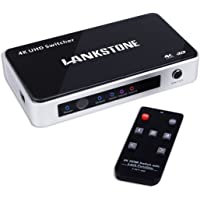 Lankstone 3-Input 4K HDMI Switcher with Latest Powerful Lock Function