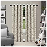 Superior Leaves Blackout Curtain Set of 2, Thermal Insulated Panel Pair with Grommet