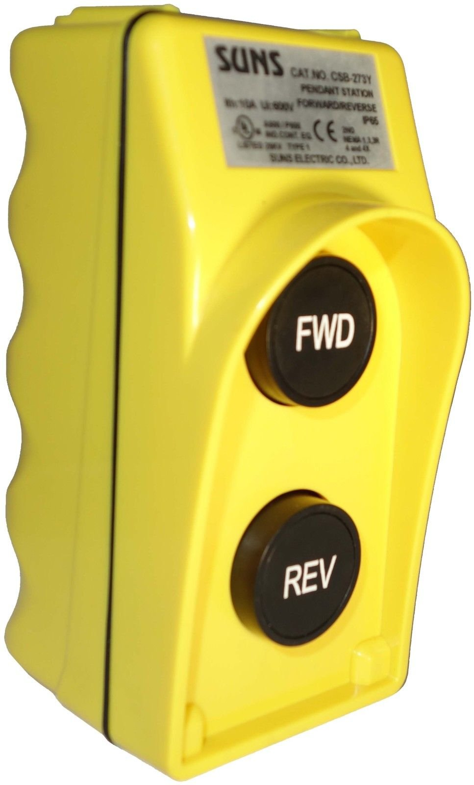 SUNS CSB-273Y UL Listed Yellow Forward/Reverse Pendant Control Station