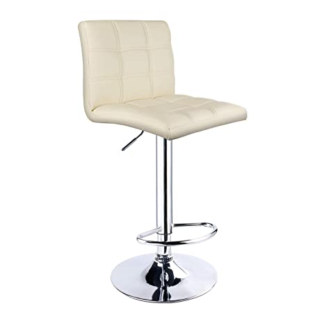 Peachy Amazon Com Square Pu Leather Adjustable Bar Stool Double Pdpeps Interior Chair Design Pdpepsorg