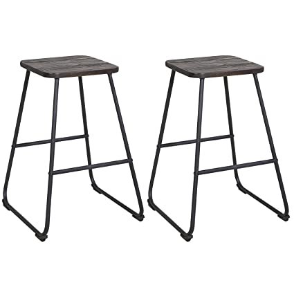 vintage industrial bar stools industrial counter height lch 24quot vintage industrial bar stools home kitchen restaurant metal chairs amazoncom 24