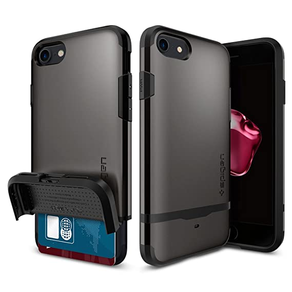 size 40 78444 c0117 Spigen Flip Armor iPhone 7 Case/iPhone 8 Case with Durable Protection and  Hidden Card Storage for Apple iPhone 7 (2016) / iPhone 8 (2017) - Gunmetal