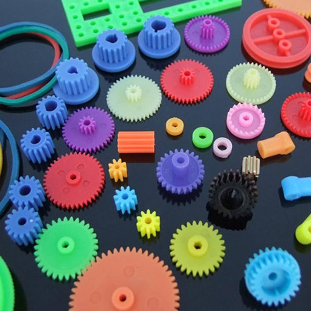Engranaje de rodadura de pl/ástico preparar varias clases de engranaje paquete de coches de juguete accesorios del motor del engranaje de gusano de bricolaje de eje de la correa bujes