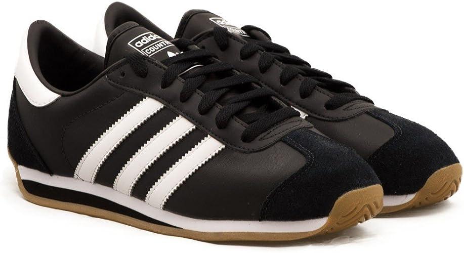 adidas Originals – Chaussures de Sport en Cuir Homme Noir