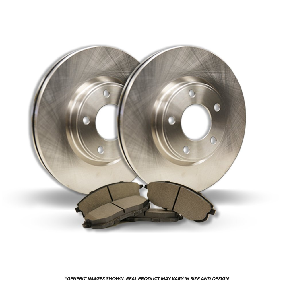 (Front Kit)(High-End) 2 OEM Replacement Disc Brake Rotors + 4 Semi-Metallic Pads(BMW)(5lug) frautoparts