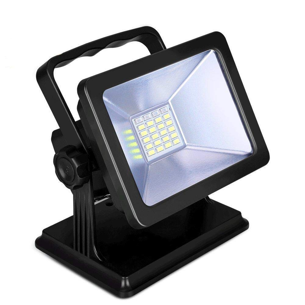 OYOCO Rechargeable LED Work Light COB with Magnetic Base 30W 8H Gifts Idea Waterproof Spotlights Outdoor Camping Emergency Lights Floodlights with SOS Mode (Black-30W)