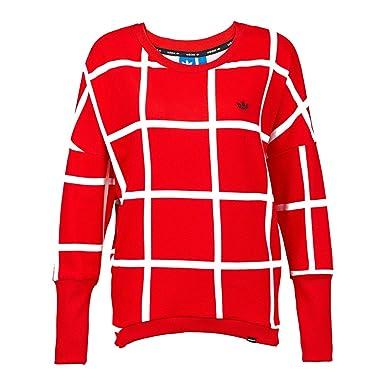 buy online 67bd0 482de adidas Originals MT Crew Neck-Chaqueta Deportiva Mujer Rojo Blanco   Amazon.es  Ropa y accesorios