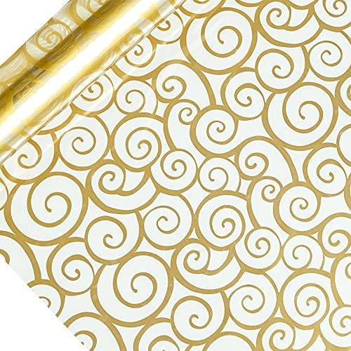 Gold Swirl Printed Cellophane 30 X 100