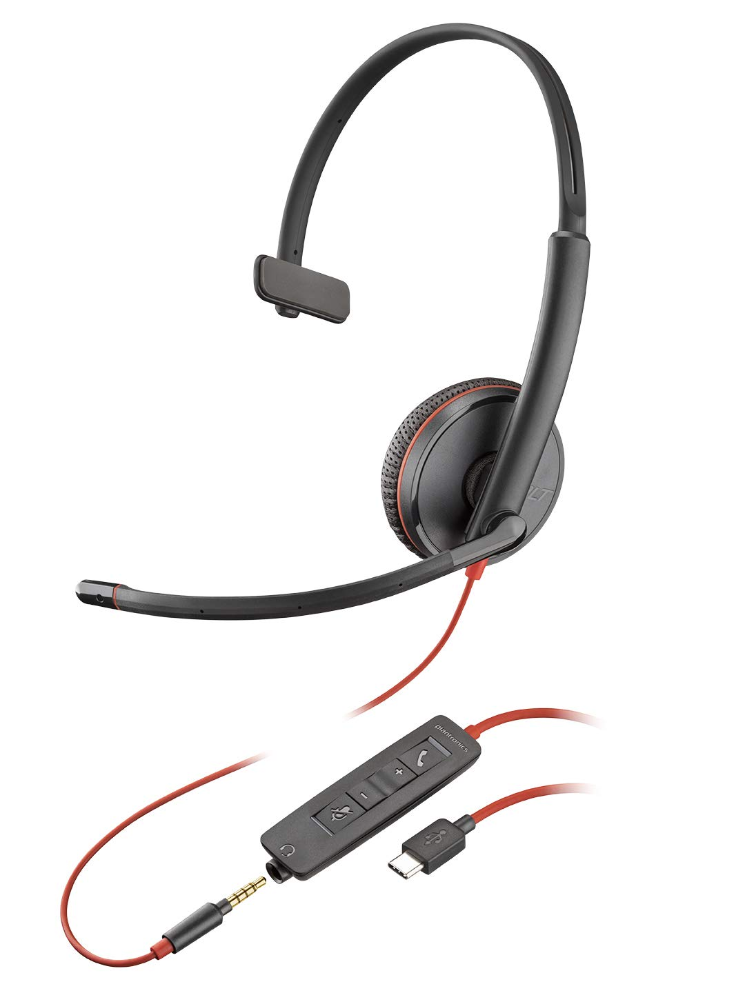 Plantronics Blackwire 3200 Stereo Corded UC Headset With USB /& 3.5mm Smart Phone Connectivity