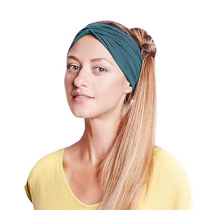 Amazon.com: Ganne Women Sport Elastic Turban Head Wrap ...