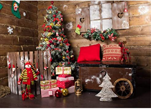Amazon.com  Vintage Christmas Photo Backdrop 7x5ft Red