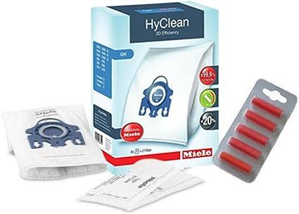 Miele, GN Sacchetti per sottovuoto Hoover, TT5000, S5210, S5211, S5261 Cat & Dog, HyClean con filtri (1 Scatola + 5 deodoranti)