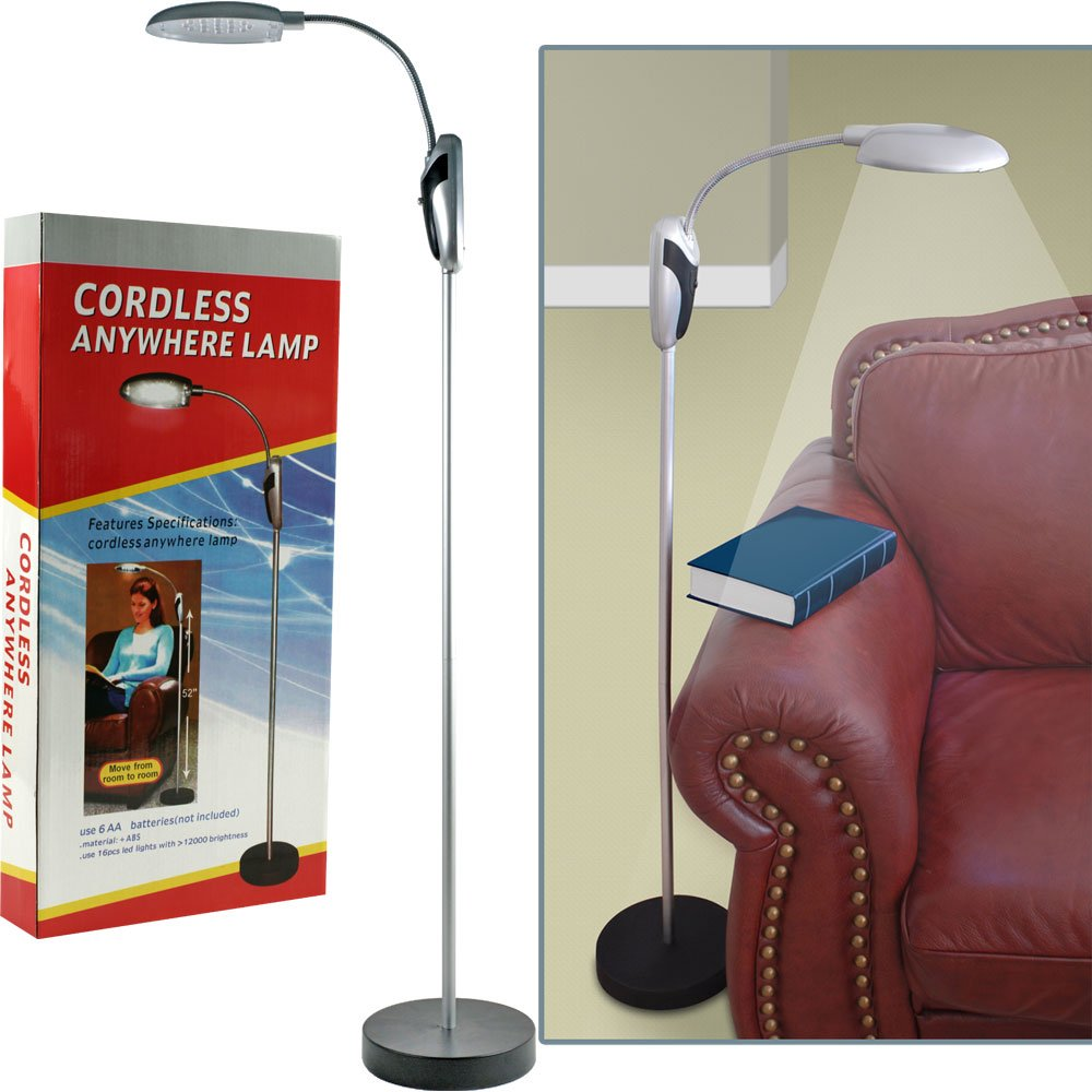 Cordless floor lamp - Trademark Home 824894 Cordless Portable Battery Operated Led Floor Lamp Amazon Com