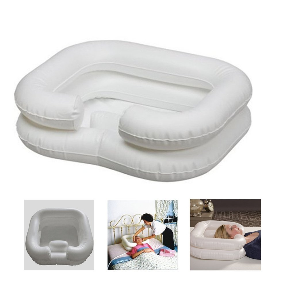 HongG Inflatable Shampoo Basin for Pregnant Woman and the Disabled Portable Basins with 1 Free Random Color Inflator