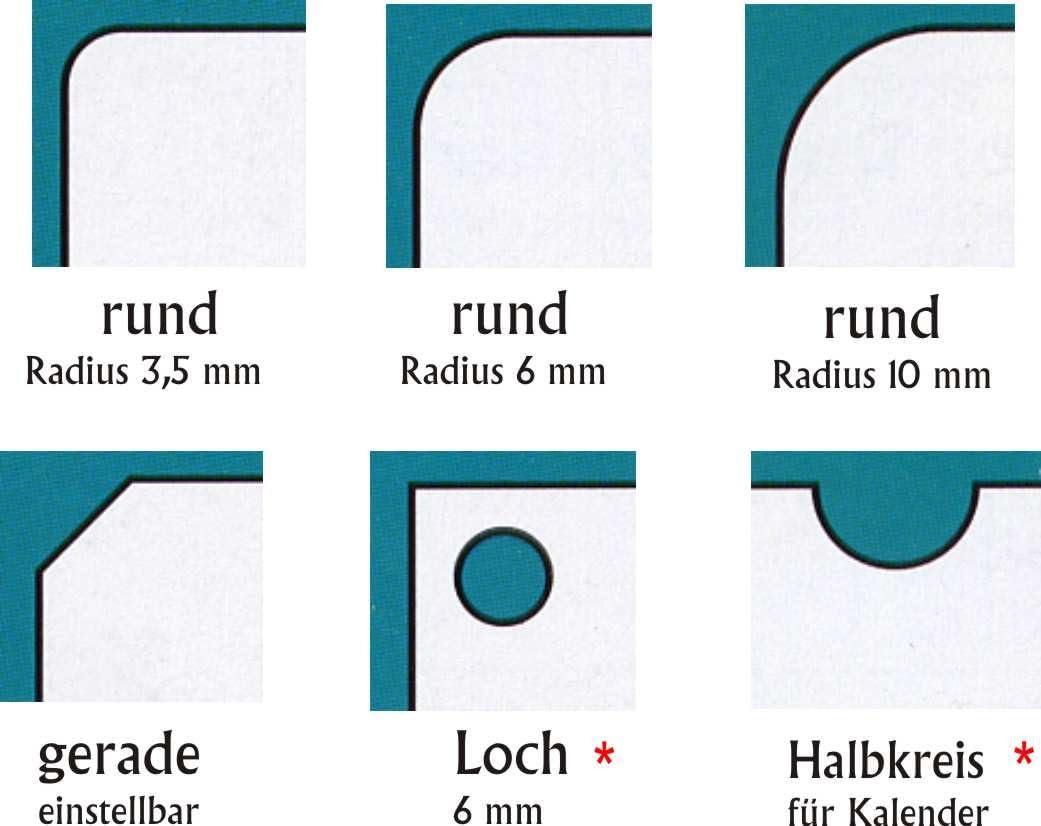 Stanzmesser R10 f/ür Profi Stanze M70 Eckenrunder 10 mm