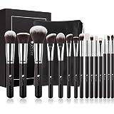 DUcare Makeup Brushes 15 Piece Makeup Brushes Set with Bag Christmas Gift Premium Synthetic Kabuki Brushes Foundation Blendin
