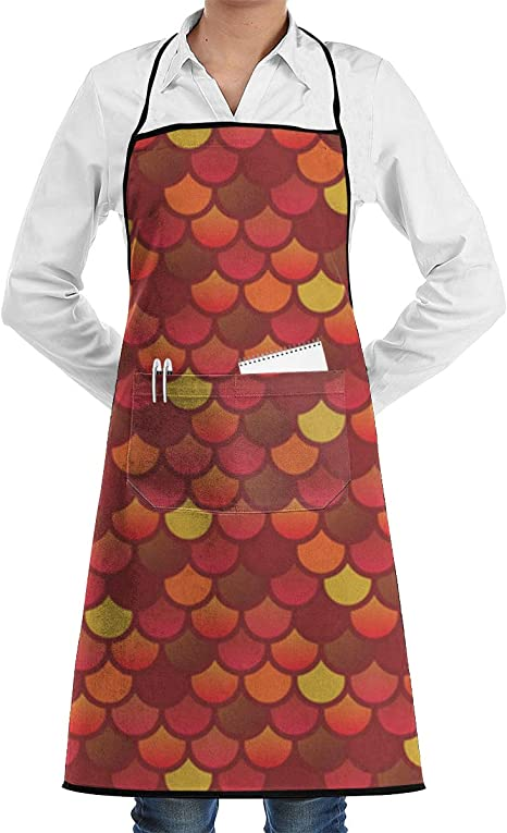 Women kitchen cooking apron Fish BBQ Party Aprons for