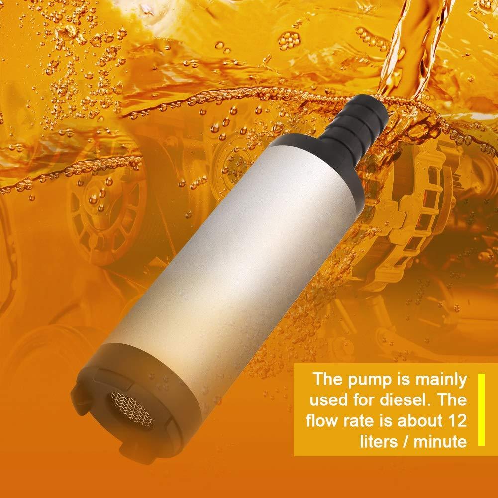 Delaman 12V 3.8cm Tauchpumpe aus Edelstahl f/ür Wasser Diesel/öl Kerosin-Auftankwerkzeug 8500r Elektro-/Ölpumpenpumpen-Kit m