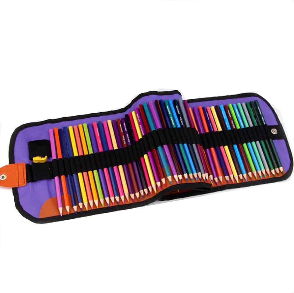 Bolso De Lona Portátil Color Sólido del Lápiz del Color del Hexágono 72 Set De Pintura del Estudiante