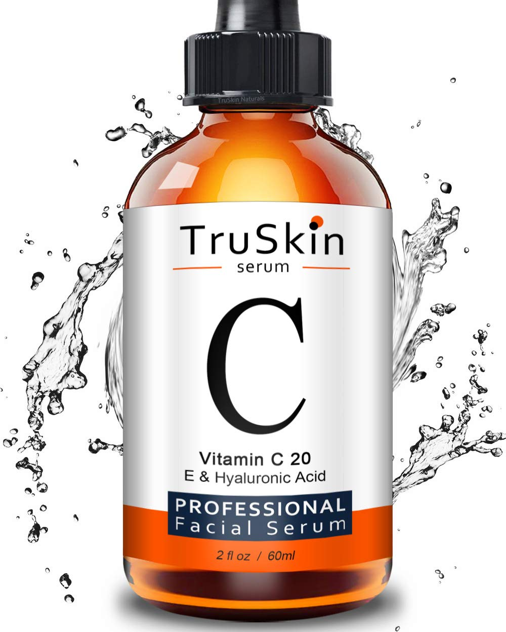 TruSkin Vitamin C Serum for Face [BIG 2-OZ Bottle] Topical Facial Serum with Hyaluronic Acid & Vitamin E, 2 fl oz. by TruSkin Naturals