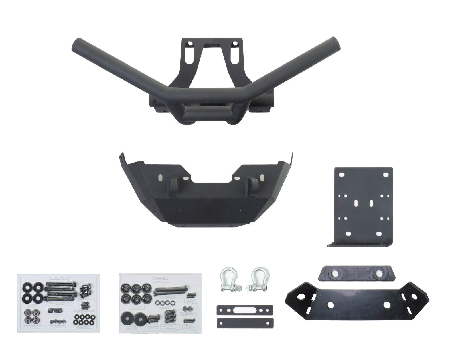 SuperATV Heavy Duty Winch Ready Front Bumper/Brush Guard for Can-Am Maverick X3 (2017+) - Black - SEE FITMENT BELOW