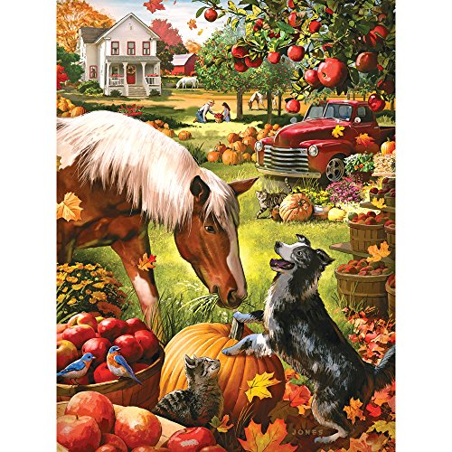 (Bits and Pieces - 500 Piece Jigsaw Puzzle for Adults - Autumn Farm - 500 pc Fall Pumpkin Jigsaw by Artist Larry)