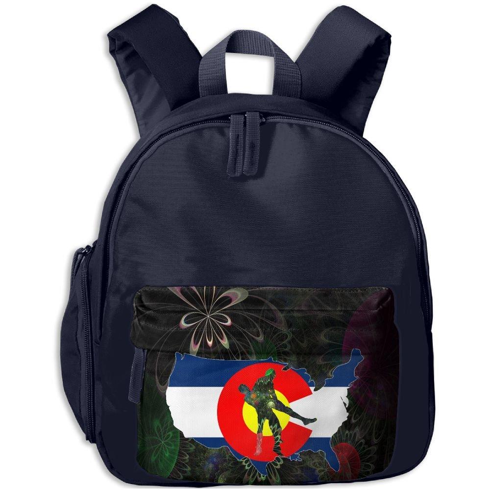 Colorado Wrestling Kids Boys Floral Print Backpack Travel Bag