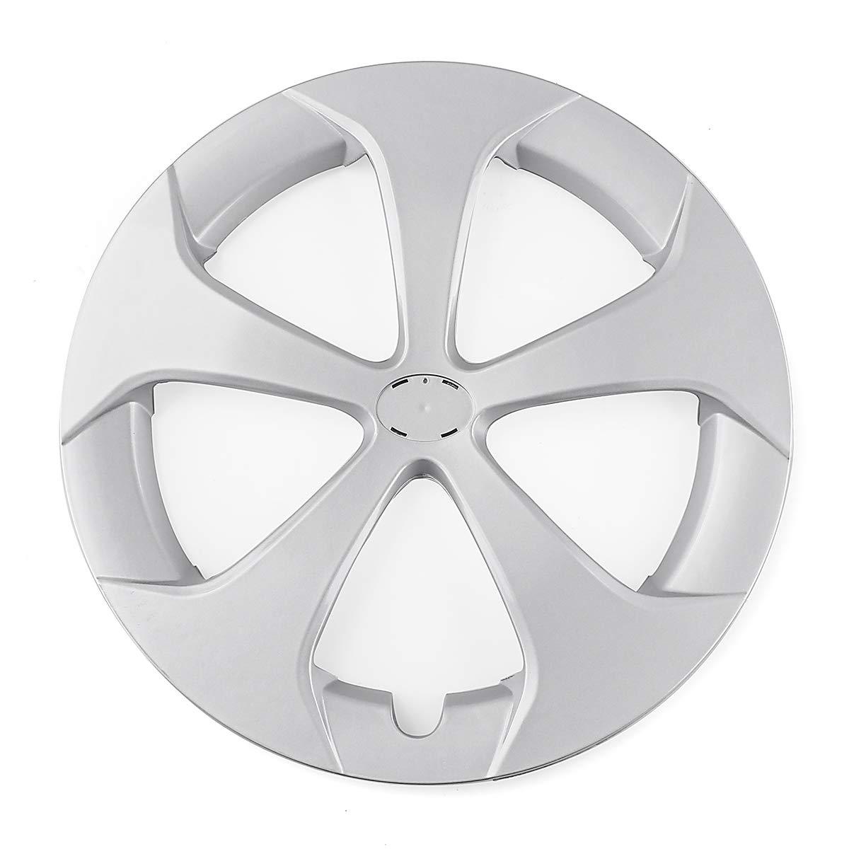 YONGYAO 40.8Cm Silver Plastic Car Wheel Tire Cover For Toyota Prius//Prius C 2012-2015